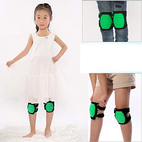 SYLXL Knieschützer Ellenbogen Kinder Soft Pads Kinderbike Dance Roller Skating Joints Knie und Ellbogenschutz Erhältlich,Grün,Kneepad
