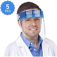 5 Pezzi YOMI Visiera Protettiva/Face Shield Proteggi Gli Occhi E Il Viso Con Una Fascia Elastica Protettiva In Pellicola Trasparente E Una Spugna Comfort (Consegna garantita entro 7-15 giorni)