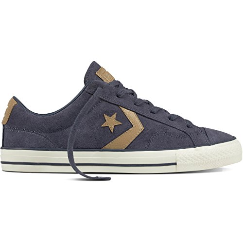 Converse Mens Star Player Ox Sharkskin Khaki Suede Trainers 44 EU