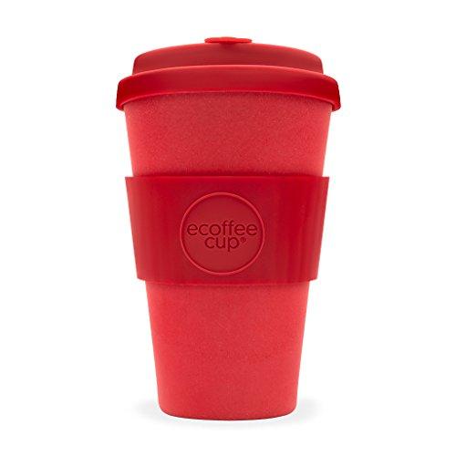 Ecoffee Cup Rouge vif Rouge Dawn ? 396,9 gram/400 ml ? réutilisable en bambou Tasse à café