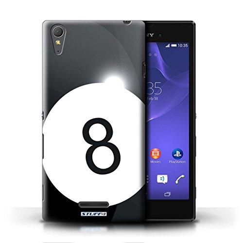 Kobalt® Imprimé Etui / Coque pour Sony Xperia T3 / Base-ball conception / Série Balle Sportif Billard/Pool
