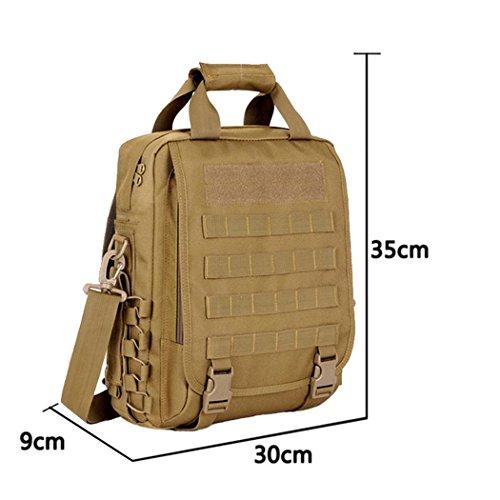 Camouflage wasserdichte Computer Rucksack 14-Inch Outdoor Wandern Camping Rucksack Portable Messenger Bag Multifunktions Handtasche DESERT DIGITAL