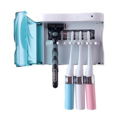 Family Shaver toothbrush sterilization box wall mounted UV toothbrush sterilizer bathroom accessories toothbrush holder (batteries and adapter power supply two power
