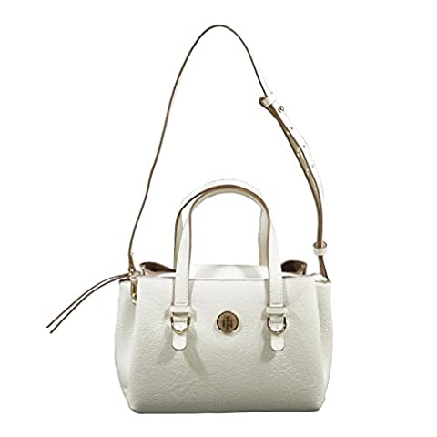 TOMMY HILFIGER TH Core Medium Satchel CB Turtledove / Toasted Coconut