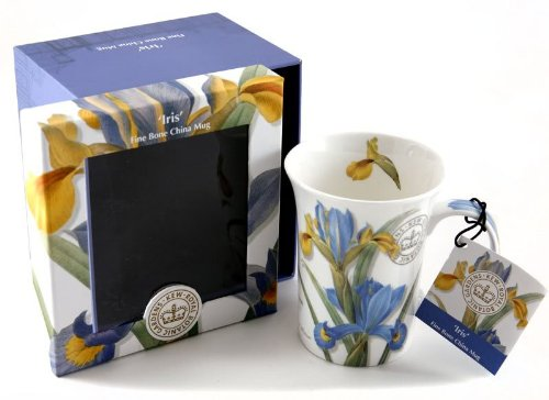 Tasse de Porcelaine Fine 'Iris' avec Boîte à Cadeau