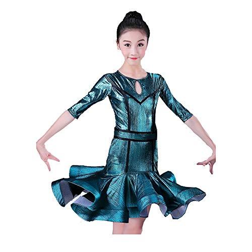 HEUFHU888 Tanzbekleidung - Wettbewerb Kostüm Latin Dance Kostüm Tanzanzug Stilvoll, komfortabel und für eine Vielzahl von Au (Farbe : Green, größe : XXL)