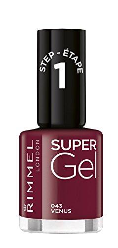 Rimmel London Super Gel by Kate Moss Soul Session and Nude - Confezione doppia di smalto nude e smalto lucido di copertura, colore: nude e trasparente