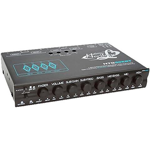 Lanzar HTG50EBT Heritage Series 4-Band EQ preestablecido paramétricos con Subwoofer de ganancia y Bluetooth Audio inalámbrico