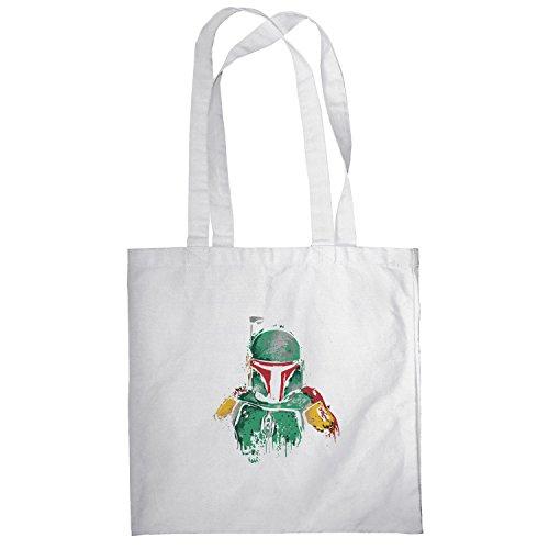 Texlab–Boba Splash Painting–sacchetto di stoffa Bianco