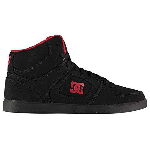 Original Shoes DC-High Top Skate-Schuhe für Herren, Schwarz/Rot Skateboarding Sneaker Turnschuhe, schwarz/rot, (UK12) (EU46) (US13) - Rot Schuhe Dc-high-tops