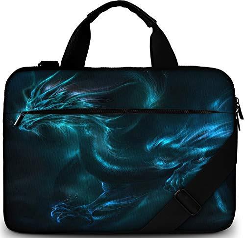 Gummi-laptop-tasche (Sidorenko Laptoptasche 17/17,3 Zoll - Moderne Notebooktasche aus Canvas - Hochwertige Laptop Tasche - Schmutz- & Wasserabweisende Laptop Bag mit Zubehörfach)