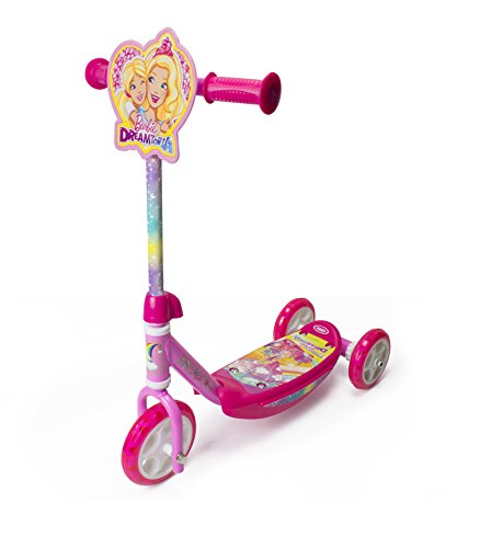 Barbie Dreamtopia Kinder Barbie-3 Räder Scooter, Mehrfarbig, Kid