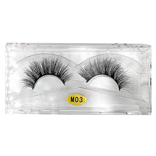MMLC 3D Natürliche Multi Layer Dickes Kreuz Auge Wimpern Falsche Wimpern Frauen Dicht Wimpern (I)
