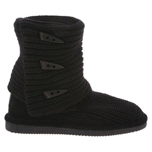 Bearpaw Knit Tall Chestnut Fur T, Bottes femmes Noir