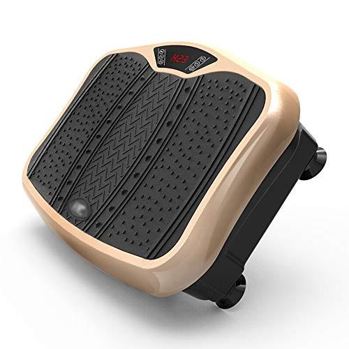 CWDXD Vibrationsplatte mit Bluetooth, 3 große Erdbebenzonen, High-Definition-Touchscreen-Panel, Fußmassage Plus Anti-Rutsch-Matte, geeignet für Beine, Taille,Gold