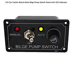 BAAQII Bilge Pump Switch Panel Boat 12V with LED Indicator Car Yachts Marine