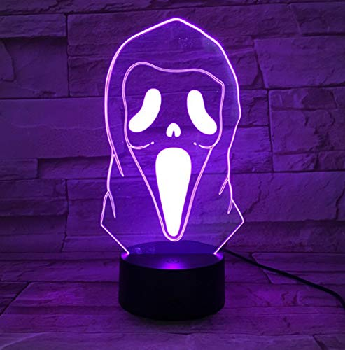 masse der Illusions-LED 3D die Neuheit erschreckt beleuchtet Halloween-Dekorations-Kinderkühle Lampe des Geschenk-3d ()