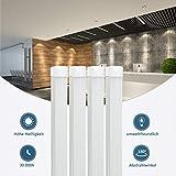 4 Stück 150CM LED Leuchtstoffröhre komplett-Set, Leuchtstofflampe 24W 6000K Kaltweiß 2150lm 48Watt-Ersatz, Deckenleuchte Unterbauleuchte Schranklicht, Montagefertig, Aufklebar, milchig