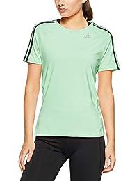 Adidas D2M tee 3S - Camiseta, Mujer, Azul(MENCLA)