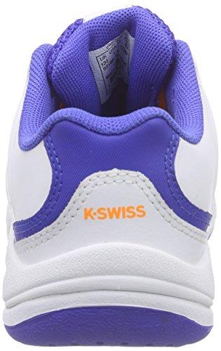 K-Swiss Performance - Ultrascendor Omni Jr, Scarpe da tennis Bambino Bianco (Weiß (WHITE/ELECTRICBLUE/ORANGE))