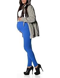 EloModa® UmstandsLeggings Warm in verschiedene Farben Baumwolle mit Lycra Gr. S M L XL XXL 3XL