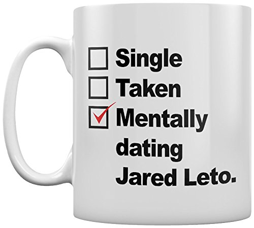 Tasse Mentally Dating Jared Leto blanc