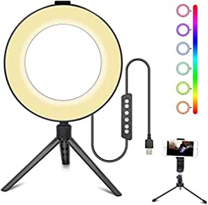 3t6b Led Selfie Ringlicht Stativ Dimmbares Rgb Kamera