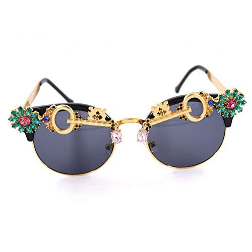 YLNJYJ Sonnenbrillen Sonnenbrillen Womenluxury Crystal Cat Eye Damen-Sonnenbrillen Mode Sonnenbrillen