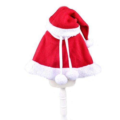 Haustier Kleidung, Transer® New Fashion Merry Christmas Red Hat & Schal Weihnachten Kleidung für Hunde/Katzen Santa Claus Kostüm Kleid bis für (Kostümen Hat Katze Hut Den In)