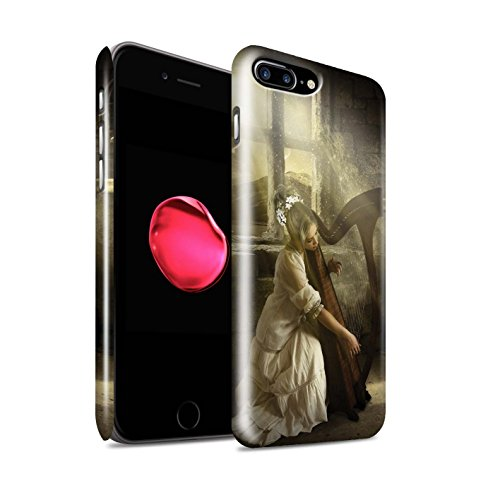 Offiziell Elena Dudina Hülle / Glanz Snap-On Case für Apple iPhone 8 Plus / Cello/Wolken Muster / Trost der Musik Kollektion Harfe/Harfenspieler