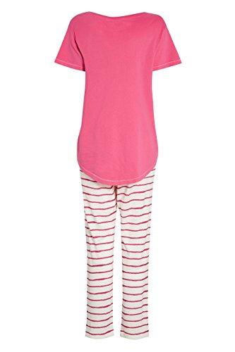next Femme Regular Fit Pyjama En Jersey Rayé Rose