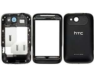 HTC Wildfire S Gehäuse Set Schwarz