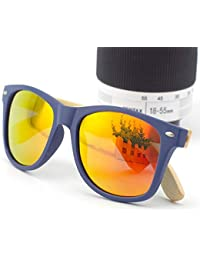 OOFAY Par de Gafas de Sol de Madera de Nogal, Gafas de Sol Mate Lentes polarizadas Gafas de Sol protección UV Sombra…