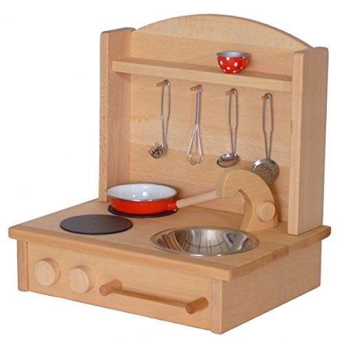 Kinder-Tischküche 2012 | Kinderherd 'Zwerg' | Spielkueche für Kinder | handgefertigt | massives Echtholz | hervorragende Qualität zu günstigen Preisen | spannendes Spielerlebnis...