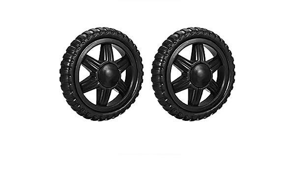 6,5 cm di diametro 2 pezzi Ruote di ricambio per carrello della spesa Sourcingmap in gomma espansa nera