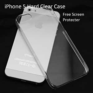 iPhone 5 Crystal Clear Hybrid Hard Back Case Cover + Free Screen Protector - Part Of Fab Mobile Phone Accessories Range