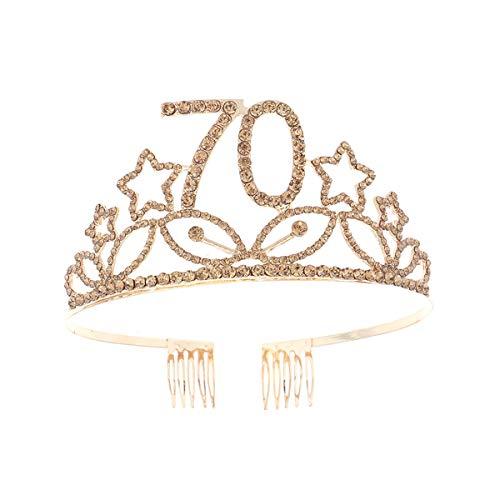 Beaupretty Corona Cumpleaños 70 Años Diadema Cumpleaños
