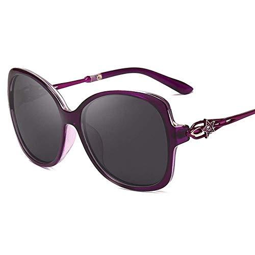 WYJW Sonnenbrille Polarisierte Sonnenbrille Damen Polarisierte Diamanten Dekorieren Modischen UV-Schutz