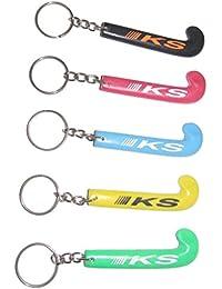 KS Hockey Stick Key Rings - Pack Of 4 Key Rings(Assorted Color)