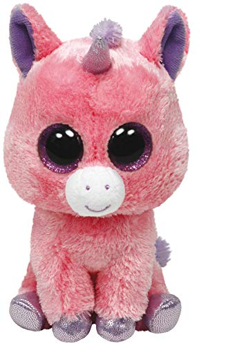 Ty - Peluche Unicornio, 15 cm, Color Rosa (United Labels 36063TY)