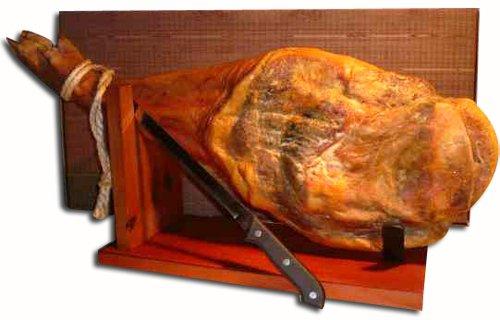 Prosciutto serrano (spalla - appr. 4,5 - 5 kg) + porta + coltello + confezione regalo