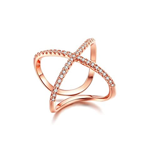 Waterlucy 18k Rose Gold Plated Pave CZ