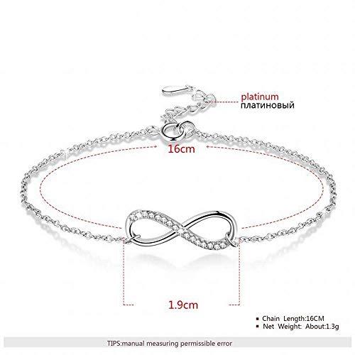 Armbänder Klassische Persönlichkeit 8 Wort Sterling Silber Armband S925 Silber Weibliches Temperament ()