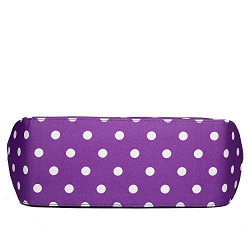 Miss Lulu, Borsa a mano donna 1633D2 Purple