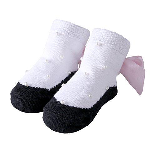 Sanlutoz Baby Mädchen Baumwolle Socken Schöne Prinzessin Spitze Socken für Baby Rüschen Tutu Socken (12-24 Monate, ()