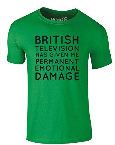 Brand88 - Permanent Emotional Damage, Erwachsene Gedrucktes T-Shirt Grün/Schwarz
