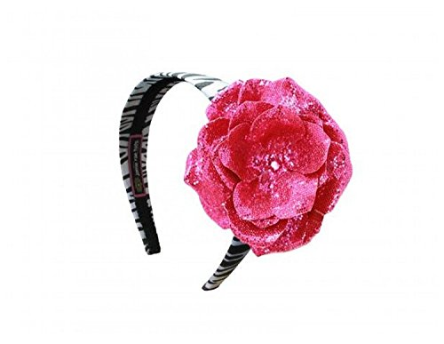 Jamie Rae Hats Zebra Hard Headband with Sequins Raspberry Rose, One Size Jamie Rae Zebra