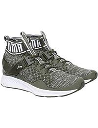 Puma Unisex's Ignite Evoknit Olive Night-Quarry W Running Shoes