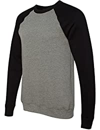 Canvas for Men's Triblend relaxed fit Sponge Fleece Pullover - SOLID BLACK -