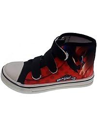 PICCOLI MONELLI Scarpe Bambina Sneakers ladi Bag miracoulus con Strappi tg  28 Rosso Nero 3a745ff28f2